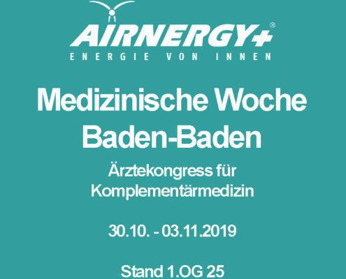 AIRNERGY at the 53rd Medical Week in Baden-Baden